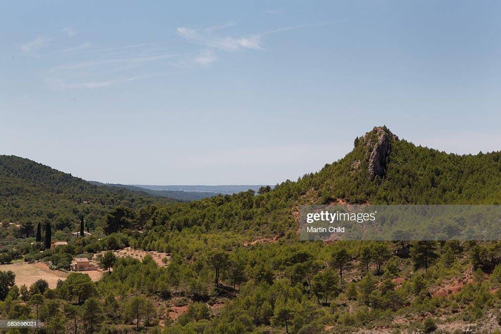 Landscape near Aix en Provence : Stock Photo