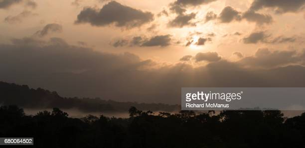 Landscape near Bahia Solano at dawn.