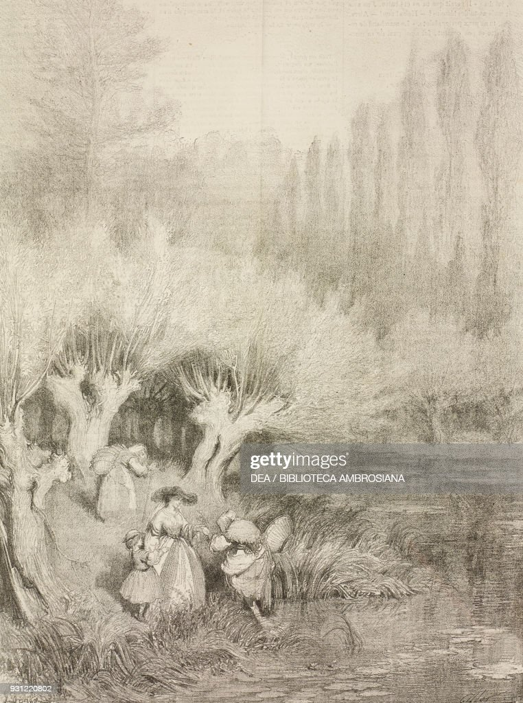 Landscape near Paris, lithograph by Gustave Dore Pictures   Getty Images