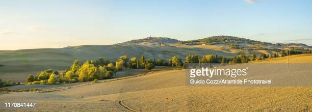 landscape near pienza - image stock pictures, royalty-free photos & images