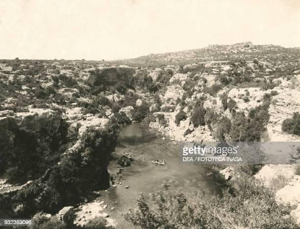 Landscape near the Duden waterfalls Pamphylia Turkey ca 1910