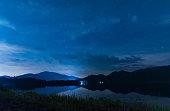landscape night sky over the lake