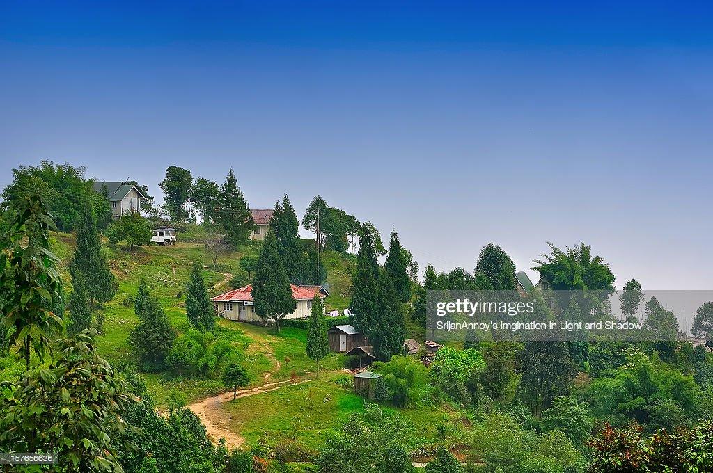 Landscape Of A Mountain Village West Bengal Stock Photo