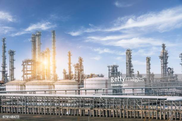 landscape of a petrochemical plant against sky