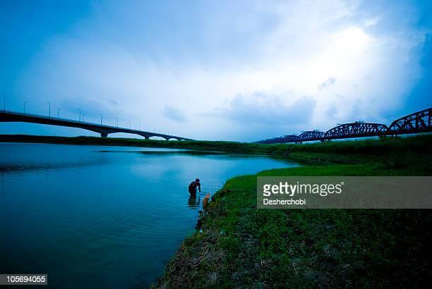 landscape of a riverbed...the padma - bangladesch stock-fotos und bilder