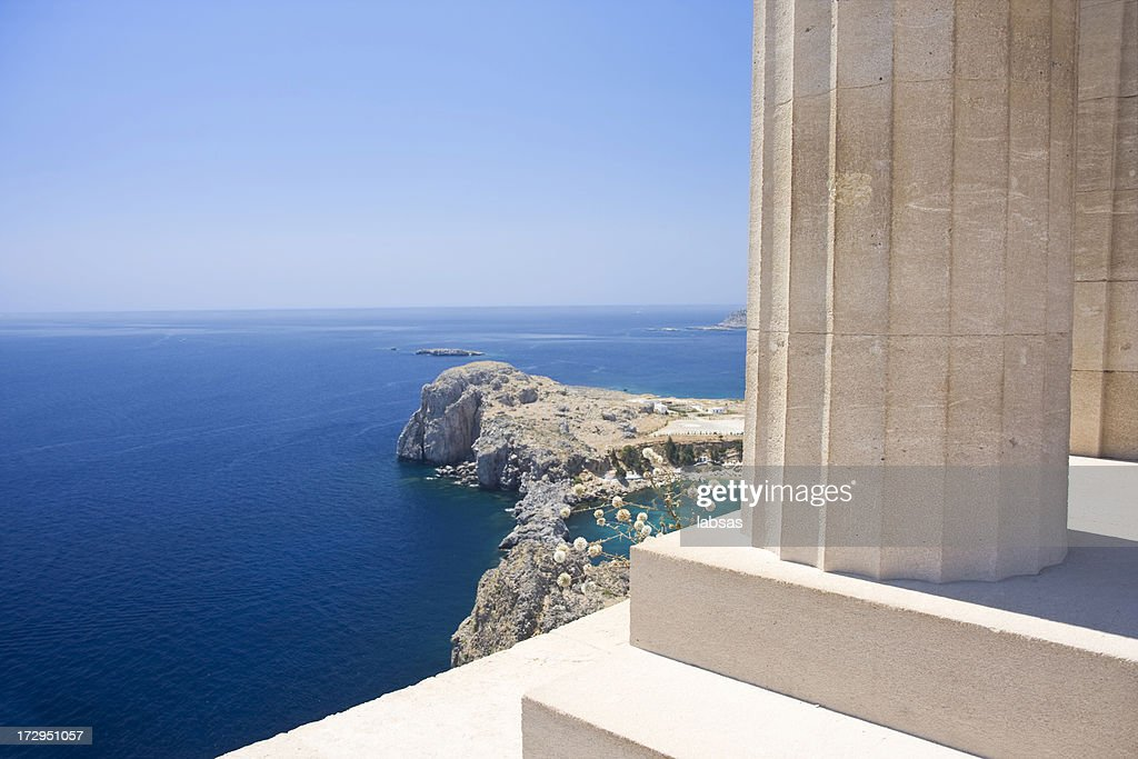 Landscape of Acropolis in Rhodes : Stock Photo