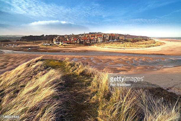 landscape of alnmouth - northumberland stock pictures, royalty-free photos & images