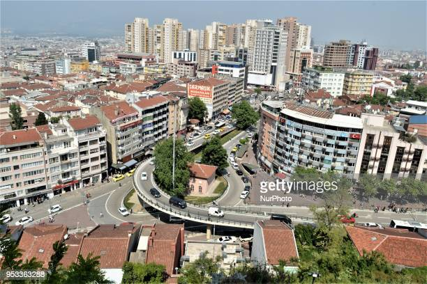 A landscape of buildings is pictured in northwestern Bursa province of Turkey on May 1 2018 Turkey prepares to go to the polls for the early...
