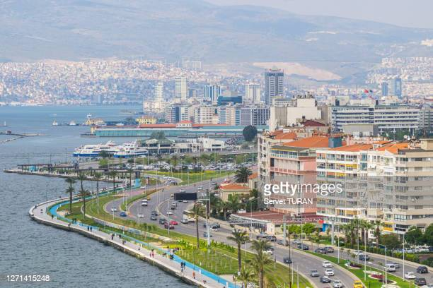 izmir city aerial view cityscape travel