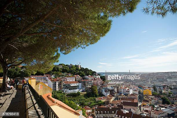 landscape of city of lisbon, portugal - jcbonassin stock pictures, royalty-free photos & images