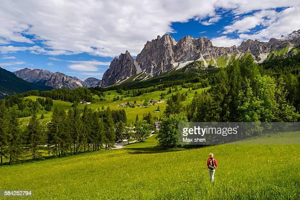 Landscape of Cortina d'Ampezzo in Dolomiti, Italy.