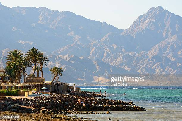 landscape of dahab, sinai - coastline stock pictures, royalty-free photos & images