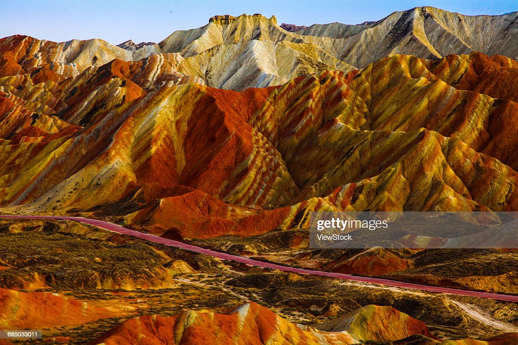 Landscape of Danxia, Zhangye, Gansu Province, China : ストックフォト