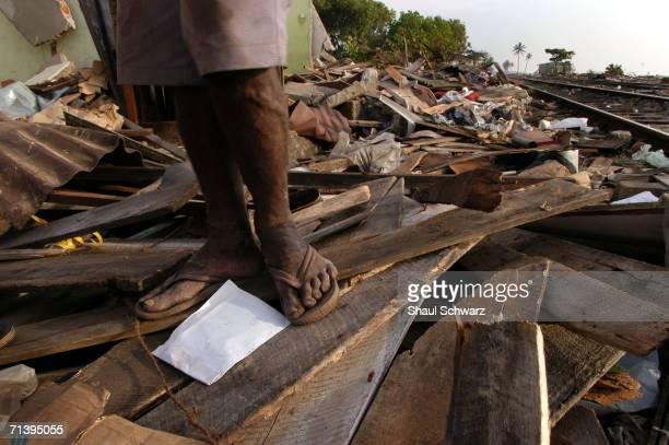 Landscape of destruction and devastation near the beach hit by the deadly tsunami on January 7, 2005 in Korala Wblla, Sri Lanka. At least 30,000...