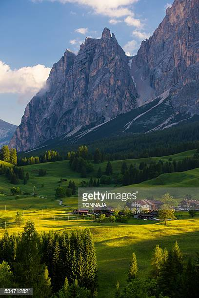 Landscape of Dolomites in summer, Italy