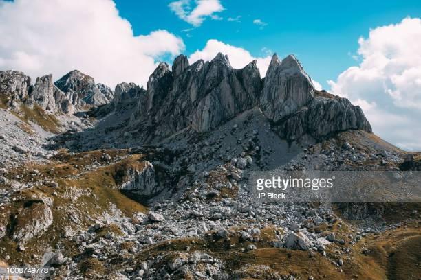 Landscape of Durmitor mountains in Montenegro