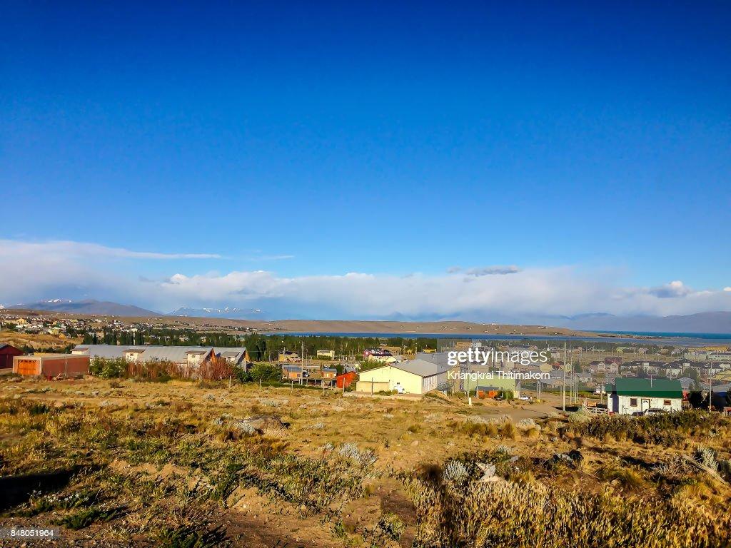 Landscape of El Calafate city in Patagonia, Argentina. : Stock-Foto