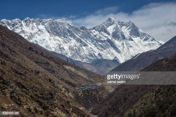 Landscape of Everest, Nuptse and Lhotse mountain peak , Everest region