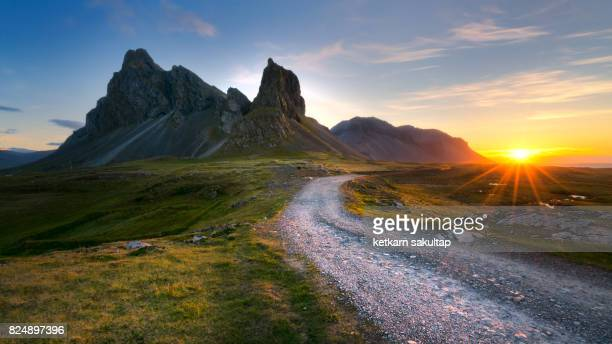 Landscape of Eystrahorn mountain, South East of Iceland, Hvalnesfjall.