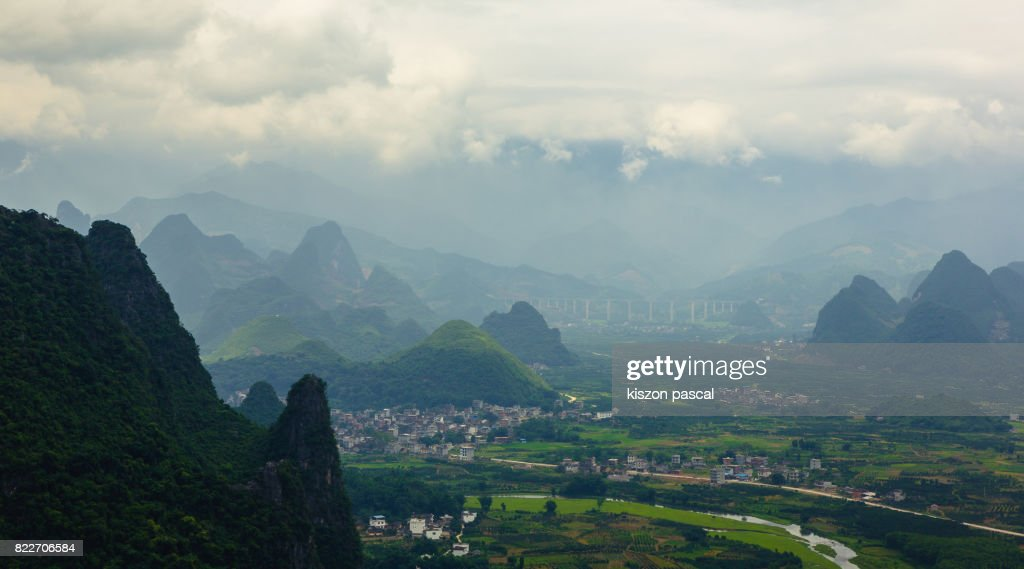 landscape of guilin in China in day : Stock Photo