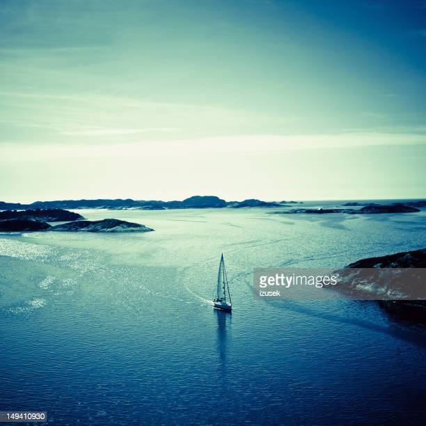 landscape of harbor in fjell norway - izusek stock photos and pictures