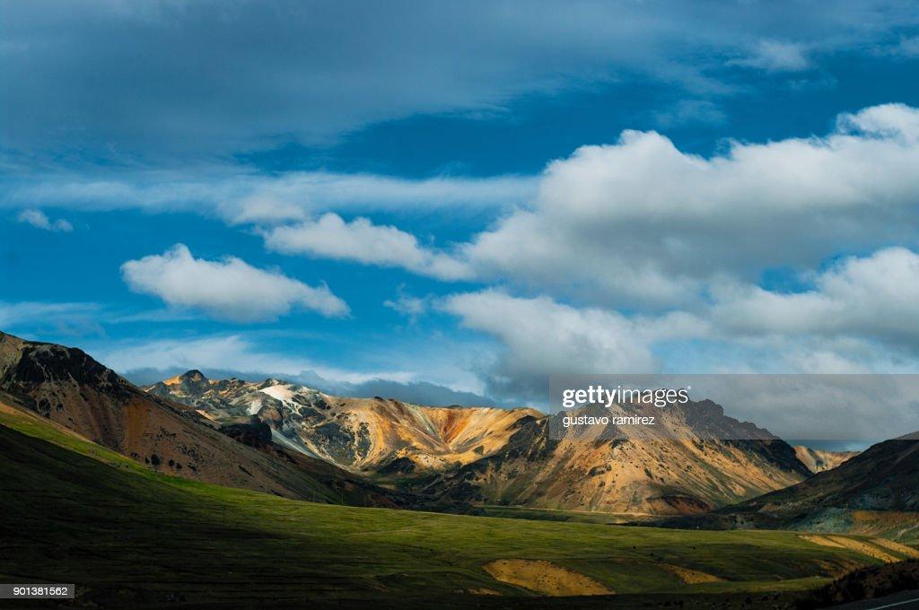 Landscape of high mountains : Stock-Foto