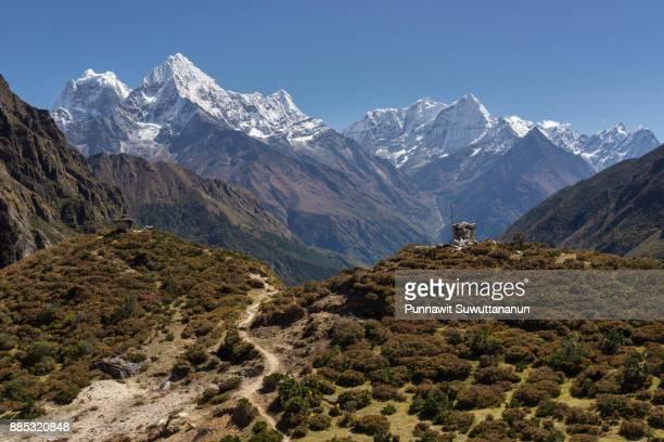 Landscape of Himalaya mountains at Thame village, Everest region, Nepal