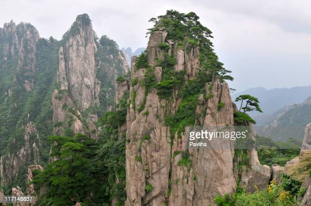 Landscape of Huangshan Mountains China