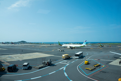 Landscape of Jeju Airport - gettyimageskorea
