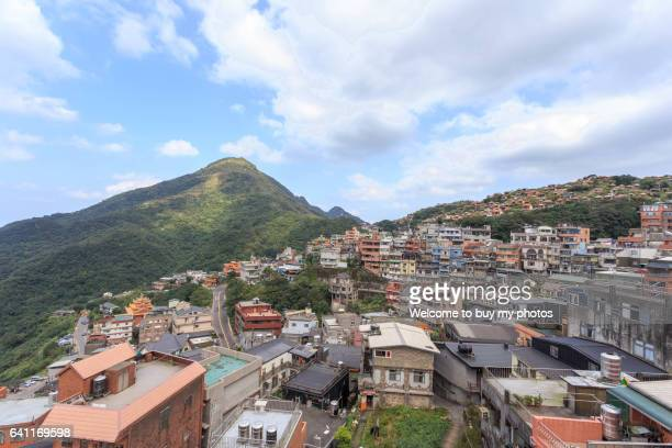 landscape of jiufen, taiwan - new taipei city stock pictures, royalty-free photos & images