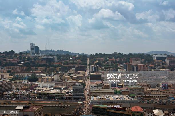landscape of kampala town, - uganda stock pictures, royalty-free photos & images