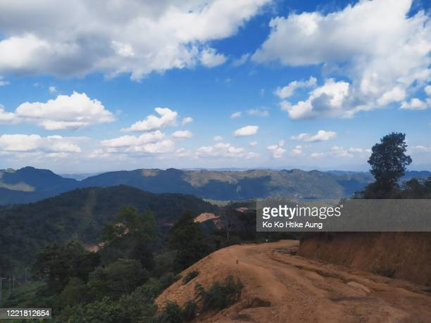 landscape of kayah ranges - ko ko htike aung stock pictures, royalty-free photos & images