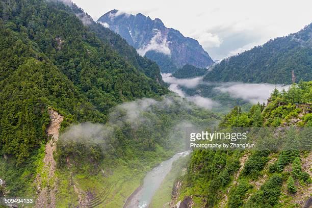 Landscape of kurobe valley on summer in Japan