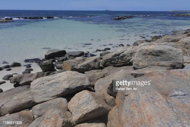 landscape of large rock pool in south western australia - rafael ben ari stock-fotos und bilder