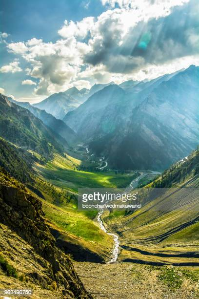 landscape of leh, ladakh, north of india - kashmir stock photos and pictures
