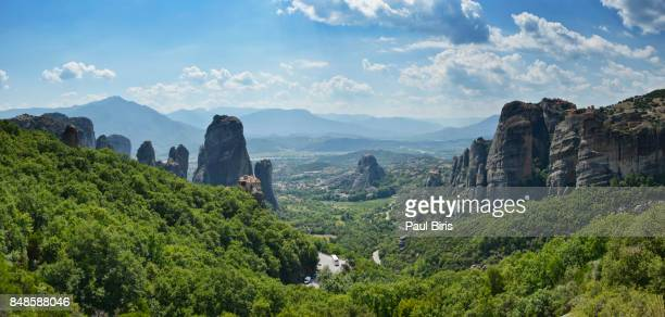 landscape of meteora, kalabaka in greece - thessaly stock pictures, royalty-free photos & images