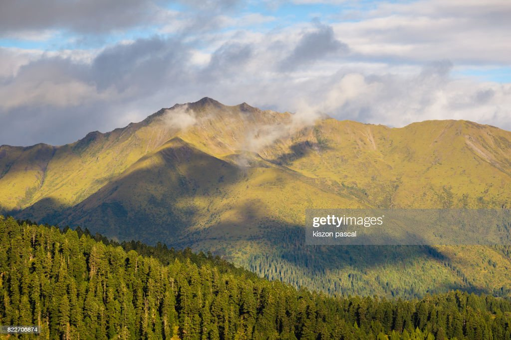 landscape of mountain in Sichuan ( China ) in day : Stock Photo
