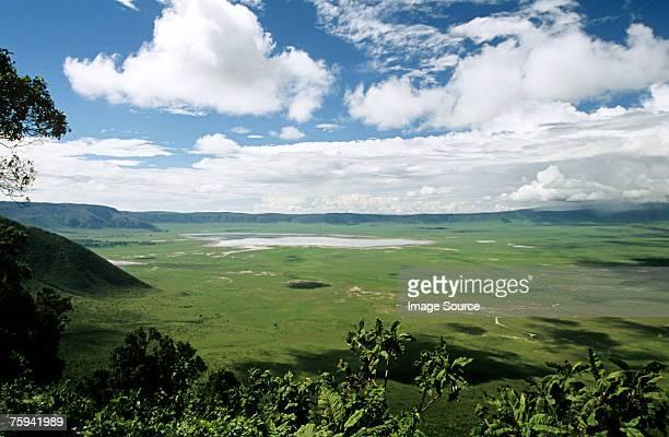 Landscape of ngorongoro crater