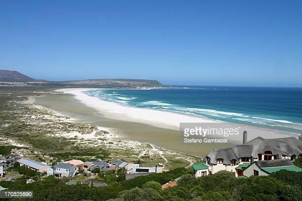 Landscape of Noordhoek beach, in Cape Peninsula, near Cape of Good Hope