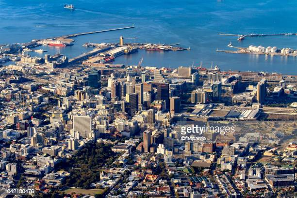 landscape of of cape town - southern africa stock pictures, royalty-free photos & images