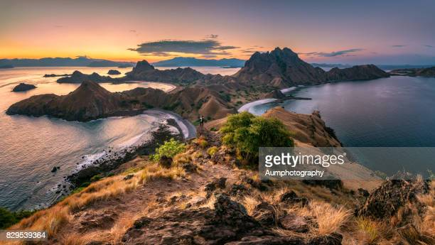 landscape of padar island,komodo national park, indonesia. - unesco world heritage site stock pictures, royalty-free photos & images