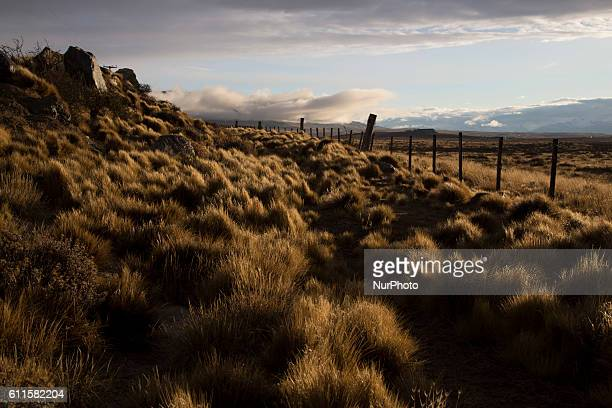 Landscape of Pampa in Santa Cruz Province on September 10 2016