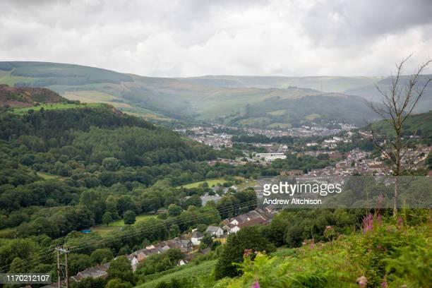 Landscape of Pentre village in the Rhondda Valley South Wales UK
