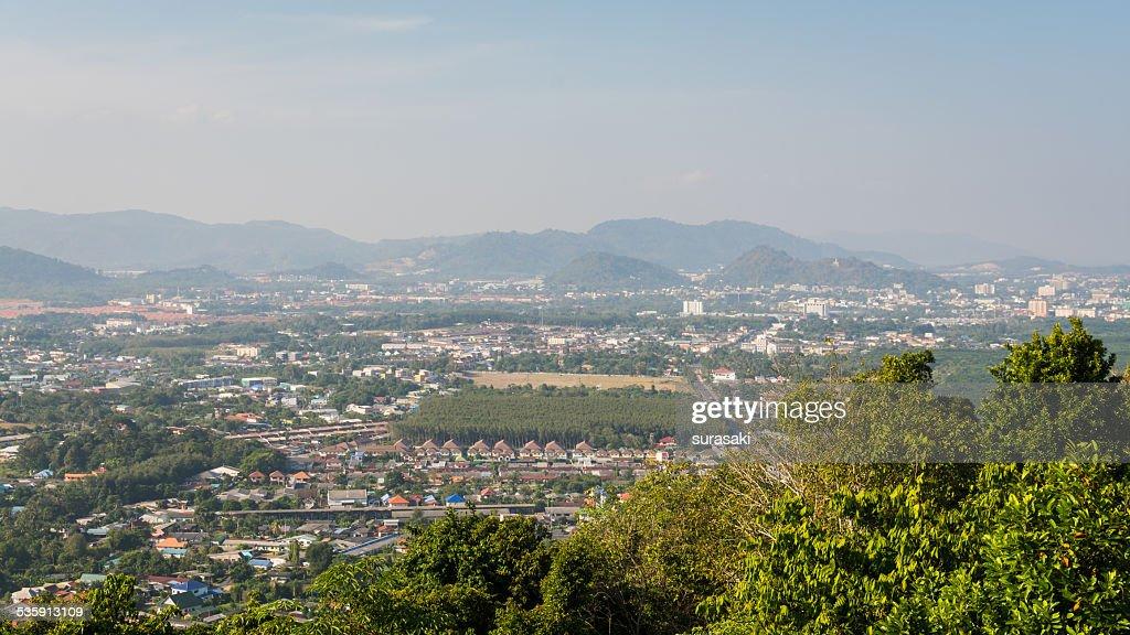 Panorama de la ciudad de phuket, Tailandia : Foto de stock