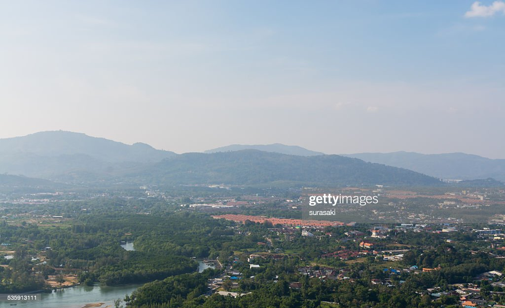 Landscape of phuket town, Thailand : Stock Photo