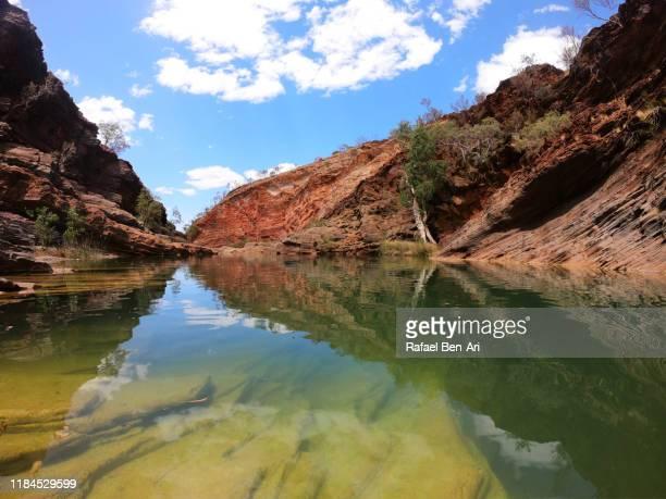 landscape of pilbara region in western australia - rafael ben ari - fotografias e filmes do acervo