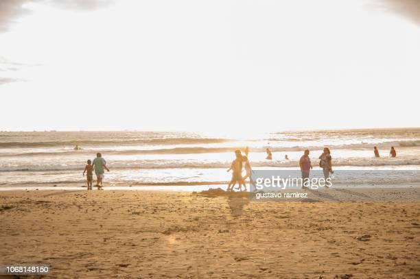landscape of punta sal beach in tumbes district in the north of peru - mancora fotografías e imágenes de stock