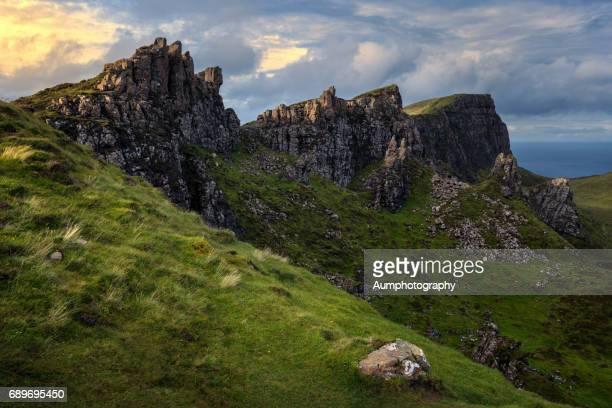 Landscape of Quiraing, Isle of Skye, UK.