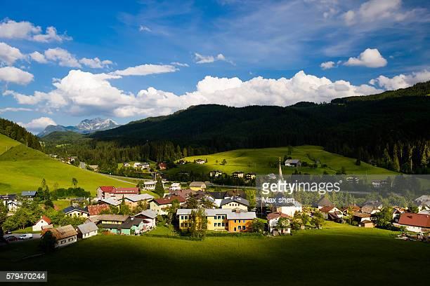 Landscape of Russbach am Pass Gschutt, Austria.