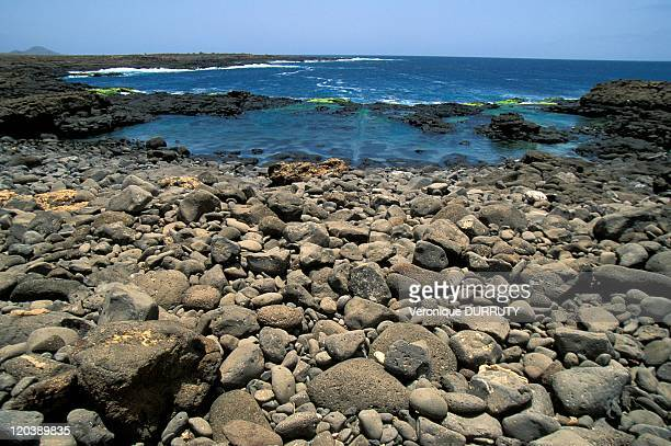 Landscape of Sal island in Cape Verde.